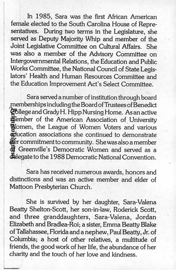 Shelton, Sarah Valena, 1919-1994 (née Beatty) - page 3